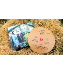 CD唱片喜帖 P11001 (圓形CD唱片:P5608)