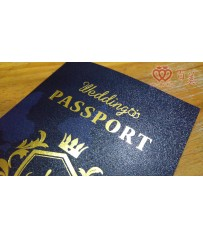 Wedding Passport 護照型婚卡 L6512(湛藍海洋)