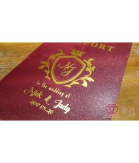 Wedding Passport 護照型婚卡 L6511(綺麗玫瑰紅)