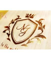 Wedding Passport 護照型婚卡 L6510(文創木紋風)