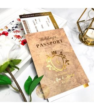 《PASSPORT》L6513 (護照型婚卡-紙感地圖)(A6050登機證為加購品)