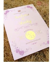 手工燙金x美式明信片婚卡 M7612(燙金版)