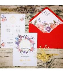 手工燙金x美式明信片婚卡M7605(燙金版)(可加購客製信封內襯)