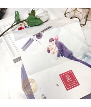《WEDDING NEWS》P7532 歐美婚報三折式喜帖