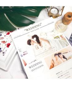 《WEDDING NEWS》P7533 歐美婚報三折式喜帖