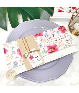 《鮮花盛開》P9003 (粉色鄉村綁繩封套式喜帖)