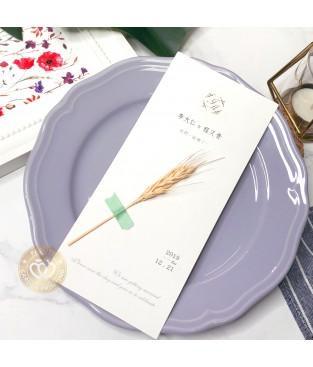 《小麥穗》乾燥花韓風喜帖 S9010